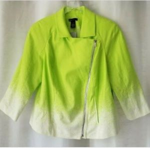 Lane Bryant size 14 green/white ombre jacket